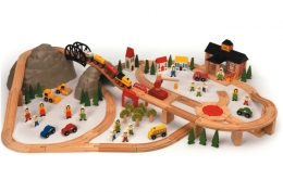 Bigjigs Wooden Railway - Mountain Railway Set