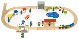 Bigjigs Wooden Railway - Village Train Set