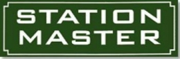 Replica Metal Sign Station Master