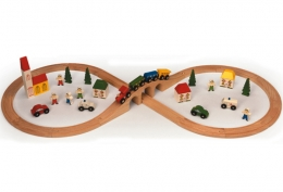Bigjigs Wooden Railway - Figure of Eight Train Set