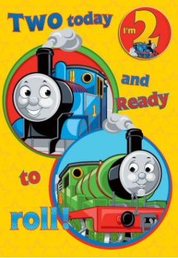 Thomas The Tank - Birthday Card with Badge Age 2