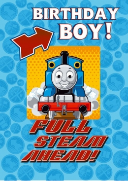 Thomas Moving Picture Birthday Card