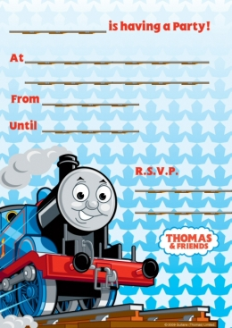 Thomas the Tank Party Invitations