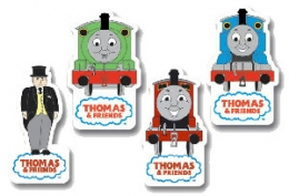 Thomas The Tank - Set of Shaped Rubbers