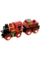 Bigjigs Wooden Railway - Big Red Engine & Coal Tender