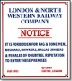Replica Metal Sign LNWR Notice (No Ladies of Doubtful Reputation)