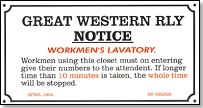 Replica Metal Sign GWR Workmens Notice